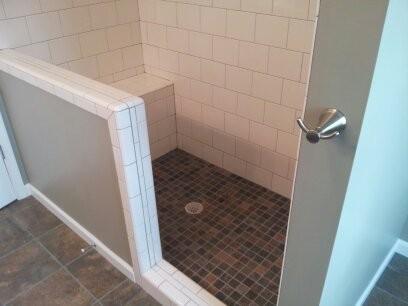 Bathroom Subway Tiled Shower Cust Kat.
